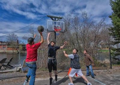 Riverbank house basketball