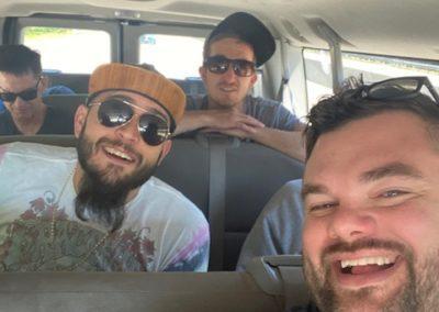 Group of guys in a van