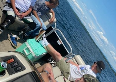 Group of guys out on a boat