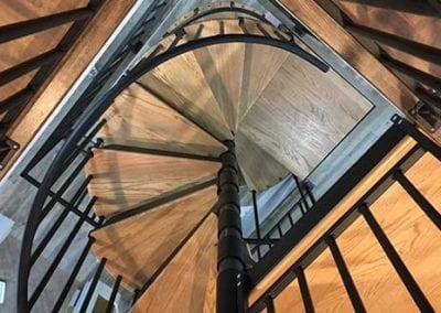 Riverbank house stairways